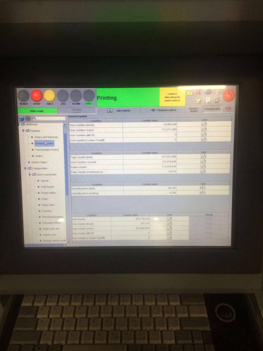 Oc 201 Jetstream 1500 Dual Printer Pre Owned For Sale
