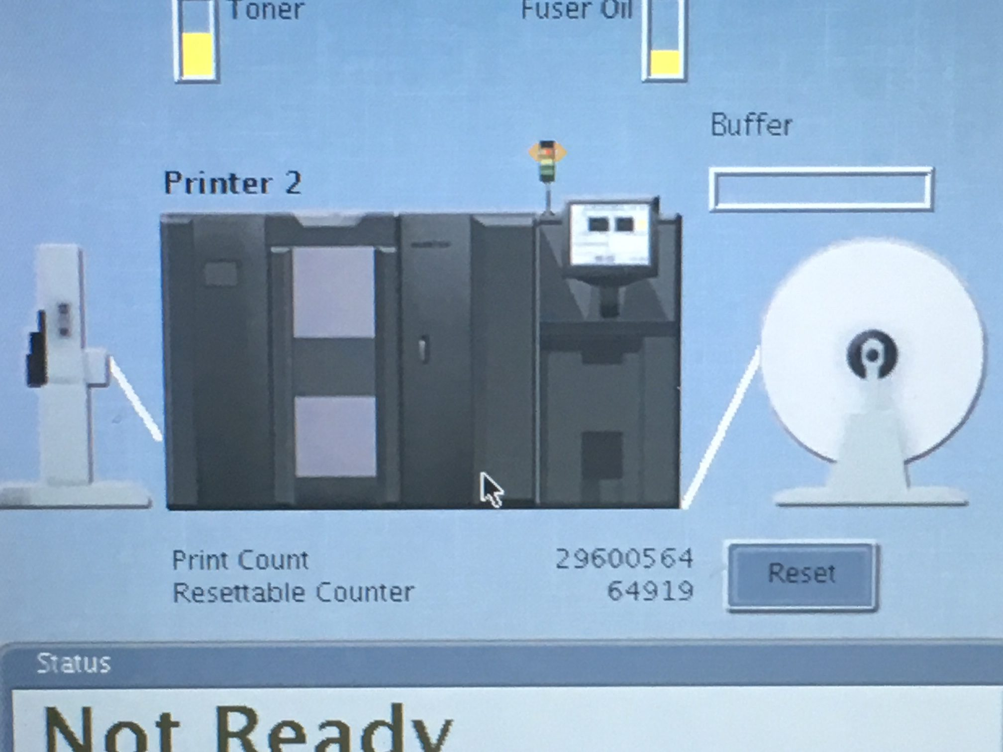 Ricoh 4100 Continuous Laser Printer TD3 TD4 - Pre-Owned